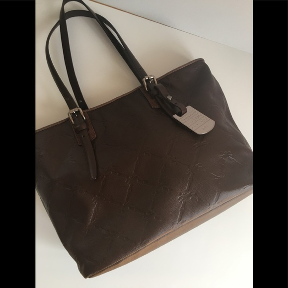 Longchamp leather tote
